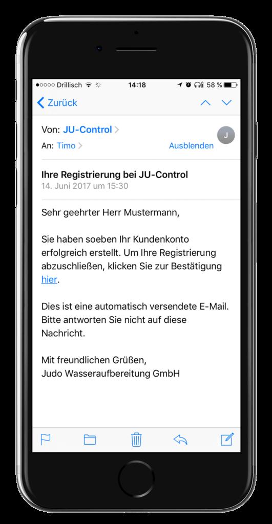 JU-Control - potvrda registracije