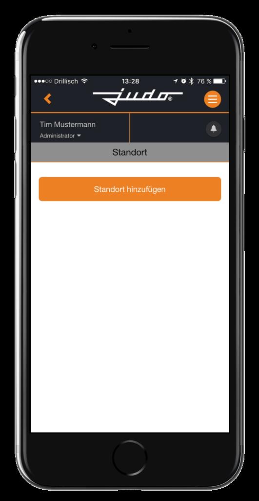 Aplikacija JU-Control - dodajte lokaciju